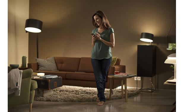 Philips Hue White A19 Starter Kit Enjoy easy control from your phone or tablet