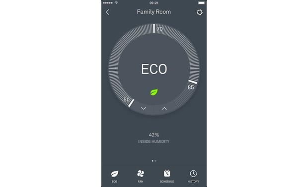 Nest Learning Thermostat, 3rd Generation You can select Eco Temperatures in the Nest app or on the thermostat