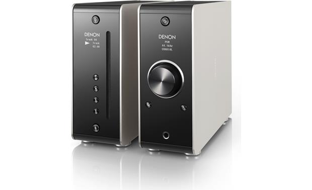 Denon DCD-50 Vertical orientation with PMA-50 integrated amp (not included)