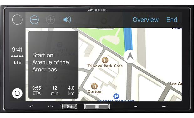 Alpine ILX-107 Use Apple CarPlay or Android Auto to access navigation while your smartphone is connected