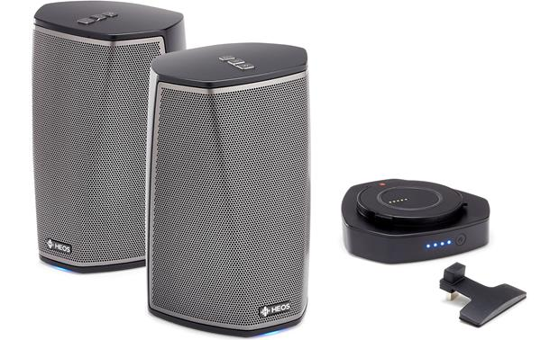 Denon HEOS 1 & Go Pack Bundle Bundle includes two HEOS 1 speakers and one HEOS Go-Pack