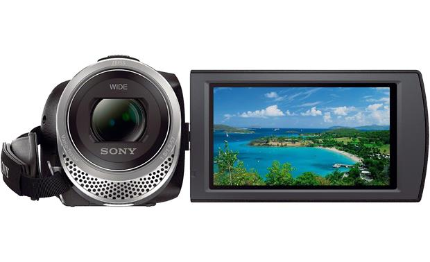 Sony Handycam® HDR-CX455 Flip the screen around so you can be in the shot