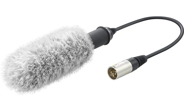 Sony XLR-K2M Microphone uses XLR connection to transmit clear sound to adapter