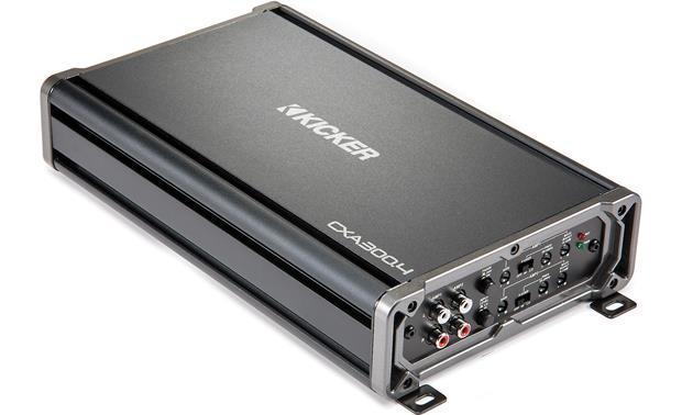 kicker 43cxa300 4 cx series 4 channel car amplifier \u2014 40 watts rms xkicker 43cxa300 4 front