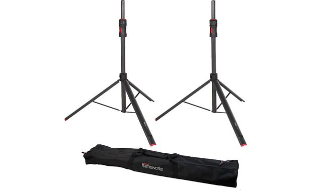 Gator Frameworks ID Speaker Stands Package includes two stands and carry bag