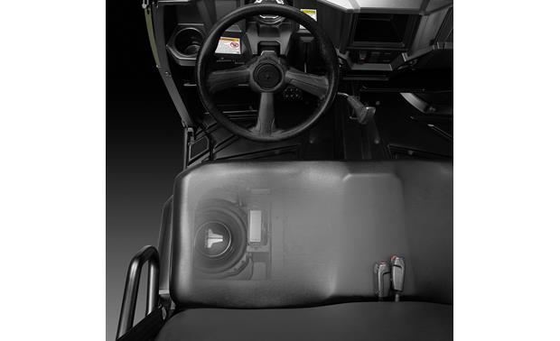 JL Audio 94621 PowerSport Stealthbox® Fits under the seat (cutaway view)