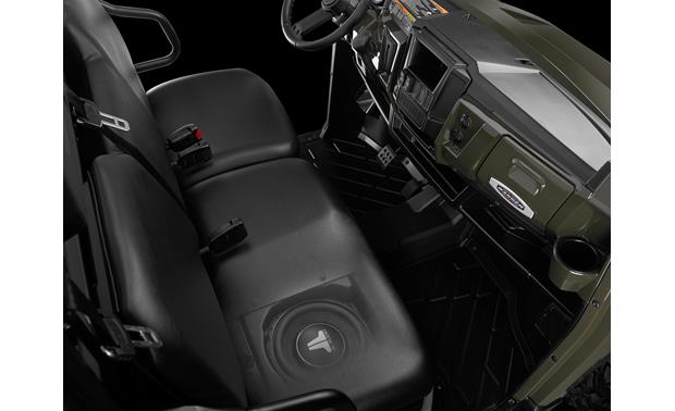 JL Audio 94622 PowerSport Stealthbox® Fits under the seat (cutaway view)