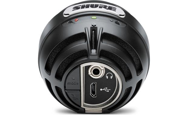 Shure MOTIV™ MV5 Black with red foam - back