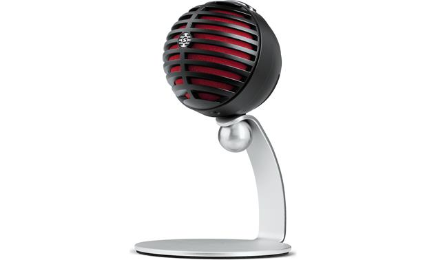 Shure MOTIV™ MV5 Black with red foam - with included table stand