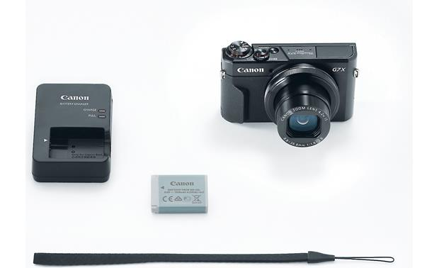 Canon PowerShot G7 X Mark II Shown with included accessories