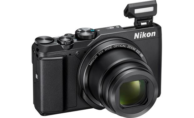 Nikon Coolpix A900 Shown with built-in flash deployed