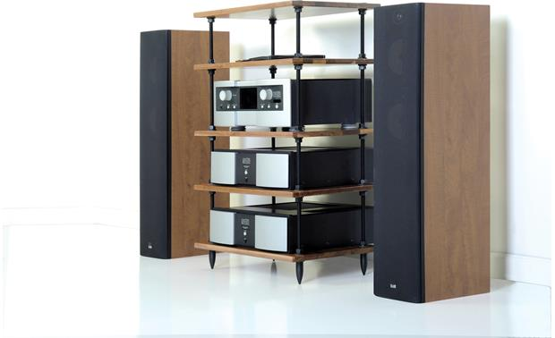 Salamander Designs A5 Archetype Natural Walnut (speakers and components not included)