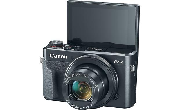 Canon PowerShot G7 X Mark II Video Creator Kit Front, with touchscreen facing forward