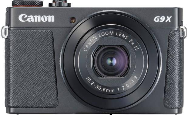 Canon PowerShot G9 X Mark II Front, straight-on