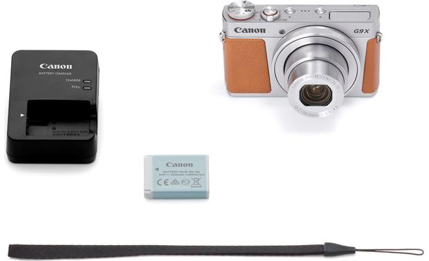 Canon PowerShot G9 X Mark II Shown with included accessories
