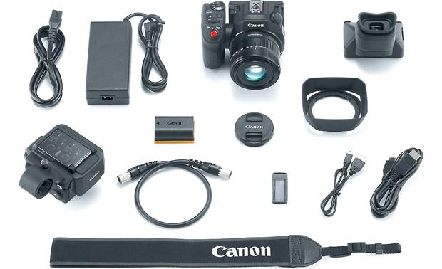 Canon XC15 Shown with included accessories