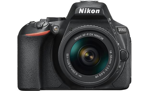 Nikon D5600 Two Lens Kit Front, with 18-55mm lens