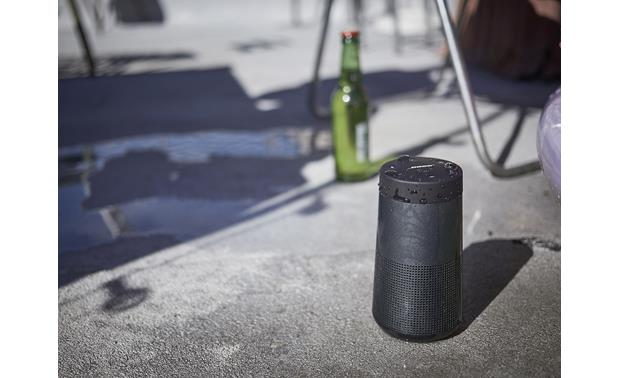 Bose® SoundLink® Revolve <em>Bluetooth®</em> speaker and charging cradle Triple Black - water-resistant