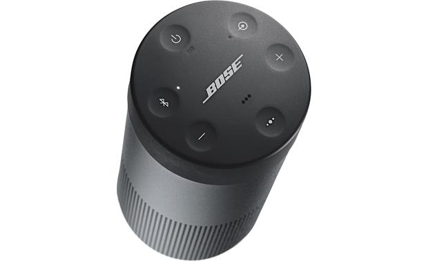 Bose® SoundLink® Revolve <em>Bluetooth®</em> speaker and charging cradle Triple Black - top-mounted indented control buttons
