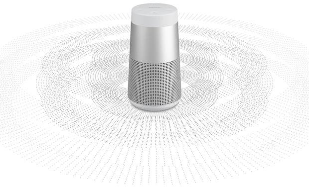 Bose® SoundLink&reg; Revolve <em>Bluetooth&reg;</em> speaker and charging cradle Lux Gray - 360&deg; sound