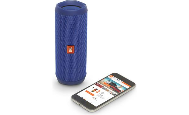 JBL Flip 4 Blue - control with free JBL app (smartphone not included)