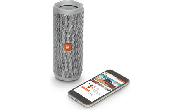 JBL Flip 4 Gray - control with free JBL app (smartphone not included)