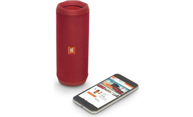 JBL Flip 4 Red - stream wirelessly via Bluetooth (smartphone not included)