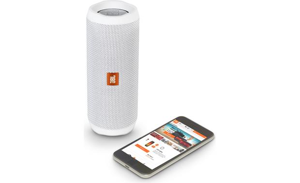 JBL Flip 4 White - control with free JBL app (smartphone not included)