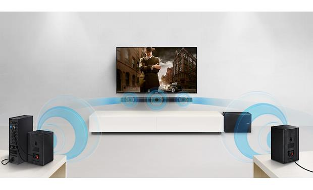 Samsung SWA-8500S Communicates wirelessly with compatible Samsung sound bar