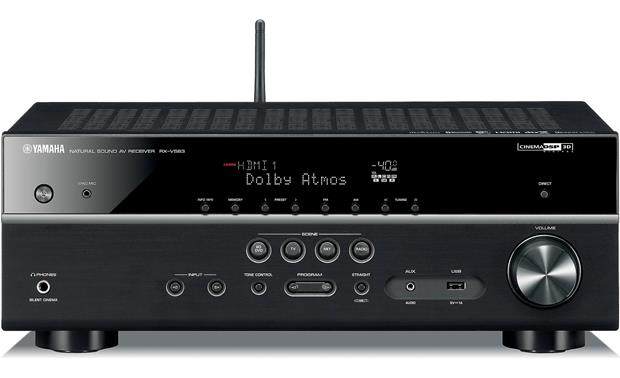 yamaha rx v583 7 2 channel home theater receiver with wi. Black Bedroom Furniture Sets. Home Design Ideas