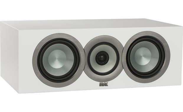 ELAC Uni-Fi CC U5 Slim Angled front view with grille removed