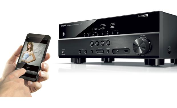 Yamaha RX-V383 Built-in Bluetooth lets you stream music from your compatible mobile device