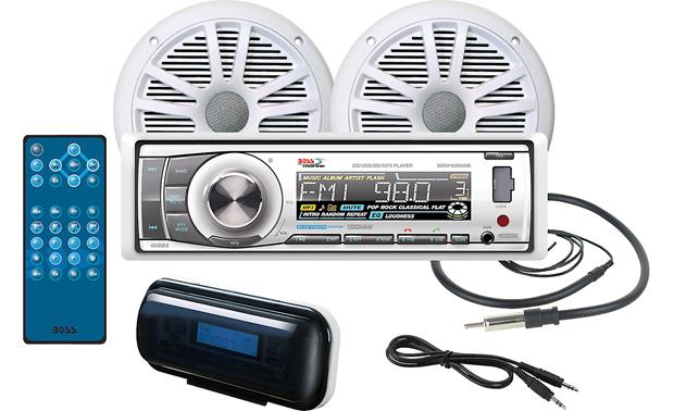 Boss Marine Receiver/Speakers Package Front