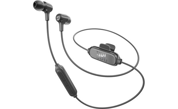 JBL E25BT Cloth-covered, wraparound cable with in-line remote/mic