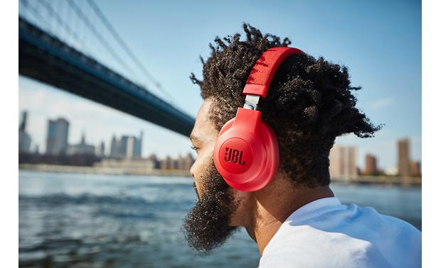 Jbl E55bt Red Wireless Bluetooth Over Ear Headphones At Crutchfield