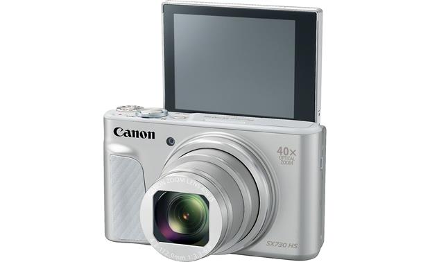 Canon PowerShot SX730 HS Shown with tilting LCD screen facing forward
