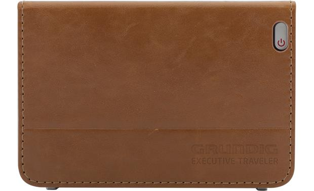 Grundig Executive Traveler Stitched leather travel case