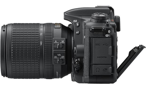 Nikon D7500 Kit Shown with screen tilted downward