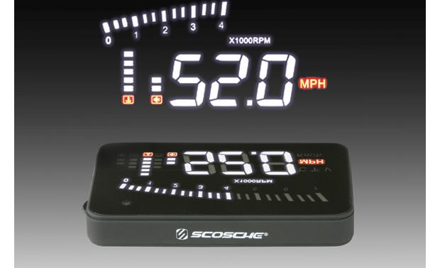 Scosche HUD2 Scosche's HUD2 automatically adjusts its brightness for day or night driving.