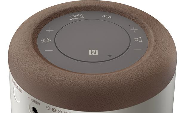 Sony Glass Sound Speaker (LSPX-S1) Bottom-mounted control buttons