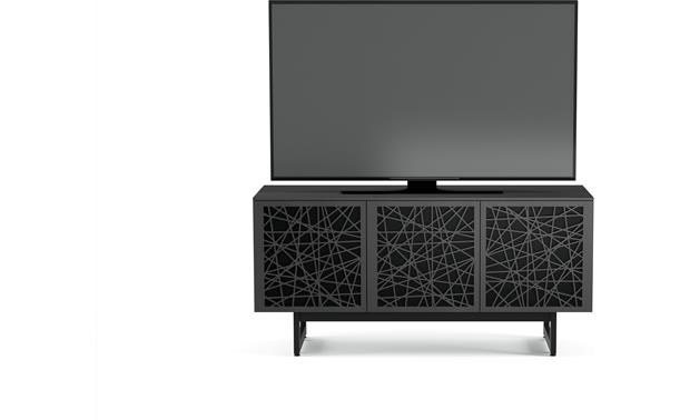 BDI Elements 8777 Charcoal w/Ricochet Doors - front (TV not included)
