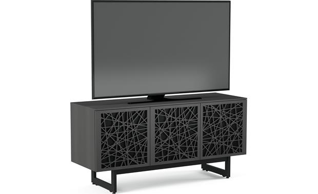 BDI Elements 8777 Charcoal w/Ricochet Doors - left front (TV snot included)