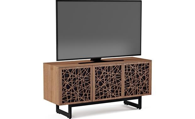 BDI Elements 8777 Natural Walnut w/Ricochet Doors - left doors (TV not included)