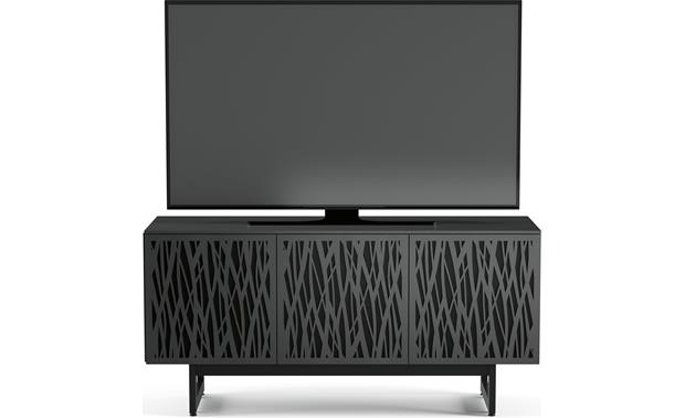 BDI Elements 8777 Charcoal w/Wheat Doors - front (TV not included)