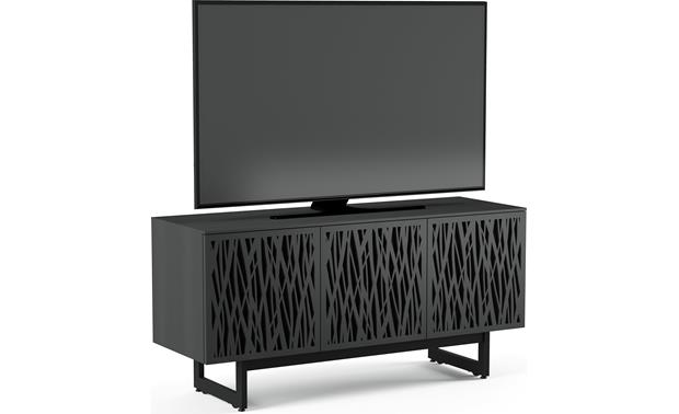 BDI Elements 8777 Charcoal w/Wheat Doors - left front (TV not included)