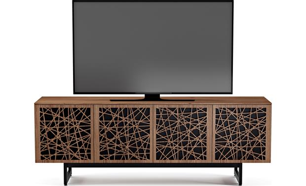 BDI Elements 8779 Natural Walnut w/Ricochet Doors - front (TV not included)