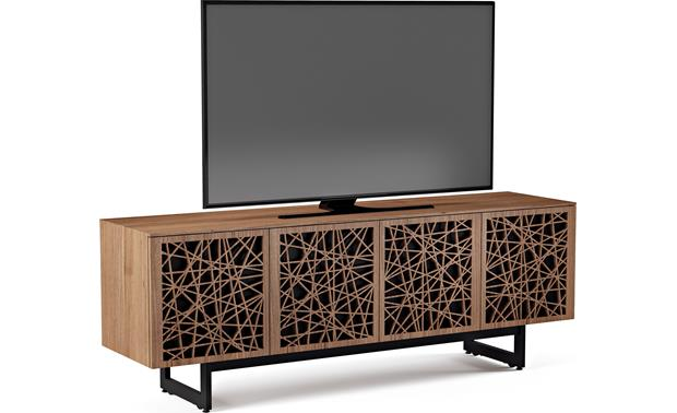 BDI Elements 8779 Natural Walnut w/Ricochet Doors - left front (TV  not included)