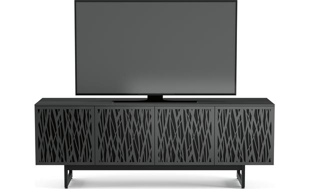BDI Elements 8779 Charcoal w/Wheat Doors - front (TV not included)