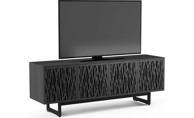 BDI Elements 8779 Charcoal w/Wheat Doors - left front (TV not included)