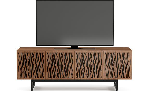 BDI Elements 8779 Natural Walnut w/Wheat Doors - front (TV not included)